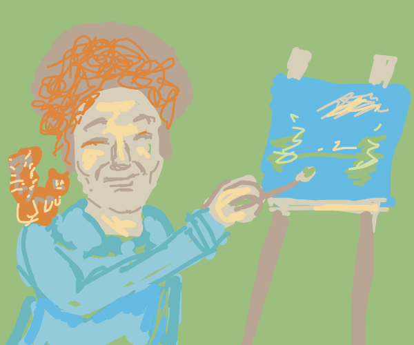 Bob Ross with tots