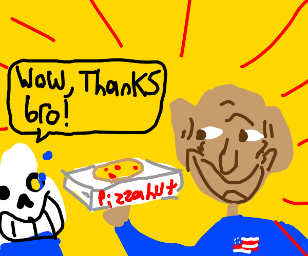 Obama delivers pizza to Sans