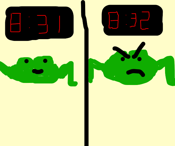 The frog does not like it when its 8:32