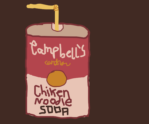 Campbell's chicken noodle soda