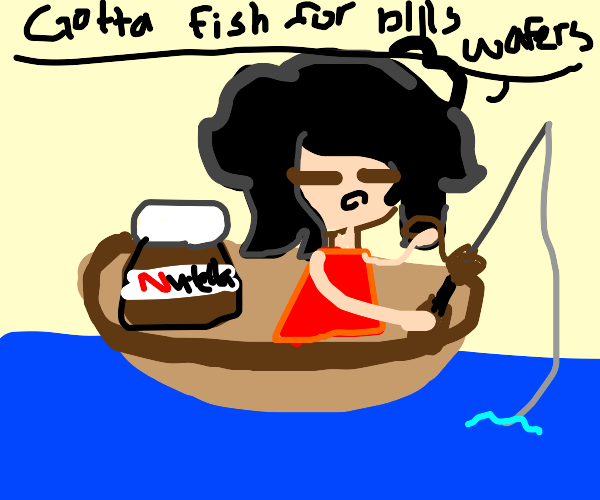 Fishing for bills wafers with nutella