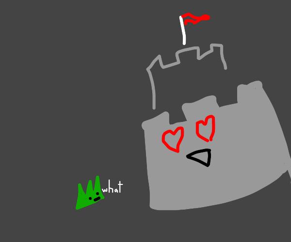 Castle that loves grass