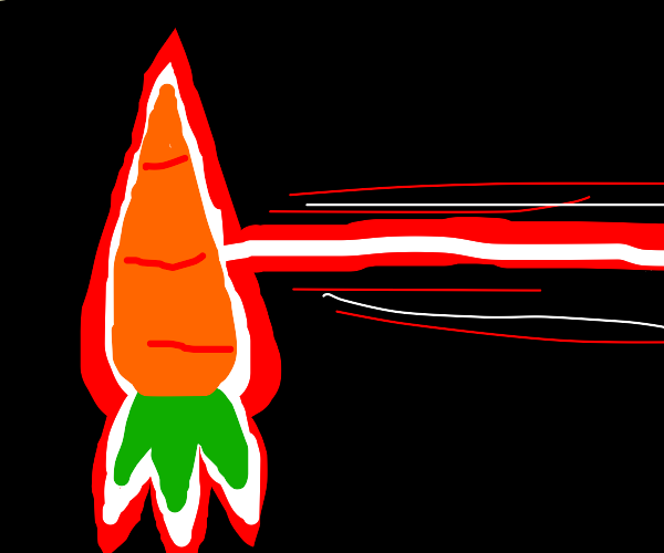 upside-down laser carrot