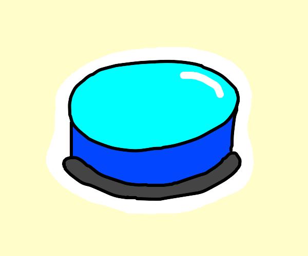 Shiny blue button