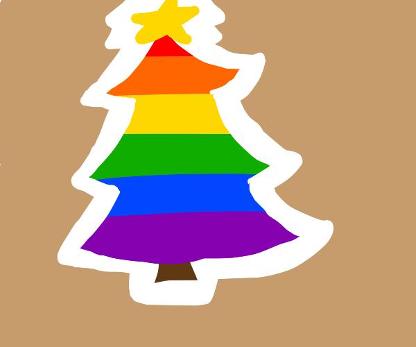 prideful LGBTQ+ christmas tree