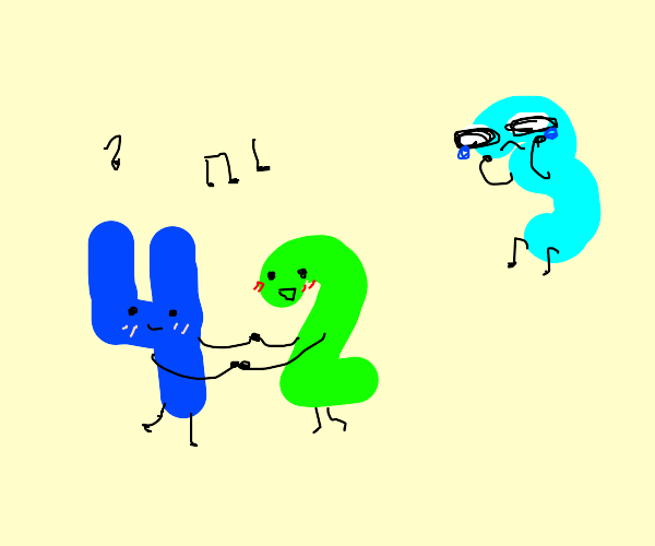 2 and 4 dance, 3 is sad