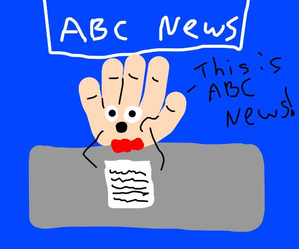 Hand News Anchor