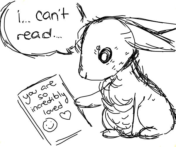 Illiterate rabbit