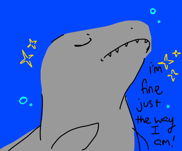 A shark doesn't need your approval