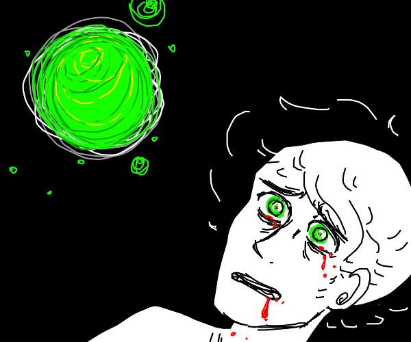 Man killed by green orb