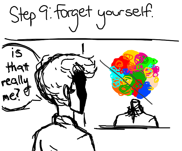 step 8: give yourself a head injury to forget