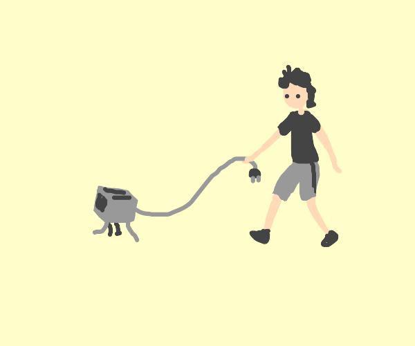 walking your pet toaster