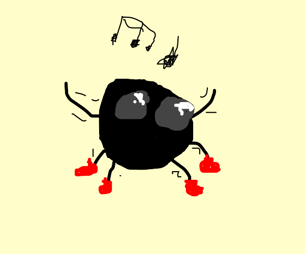 Wizard spider does a jiggy in red boots