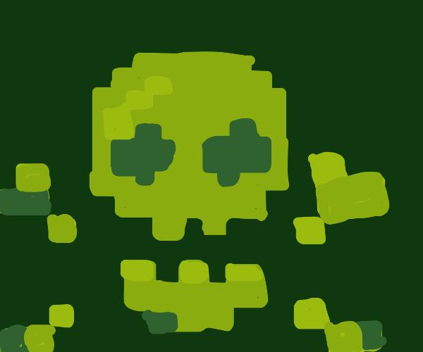 Digitalized skull and crossbones