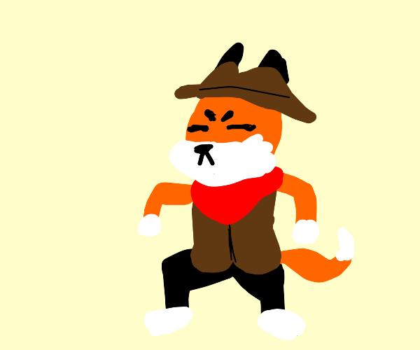 Cowboy fox