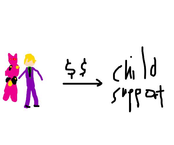 Yoshikage Kira pays child support (JJBA DIU)