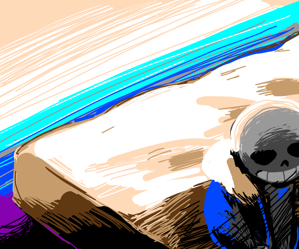 Sans wakes up from bed