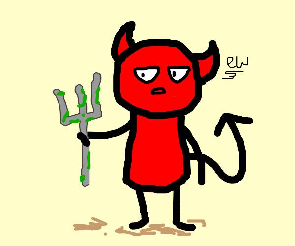 devil holds moldy trident