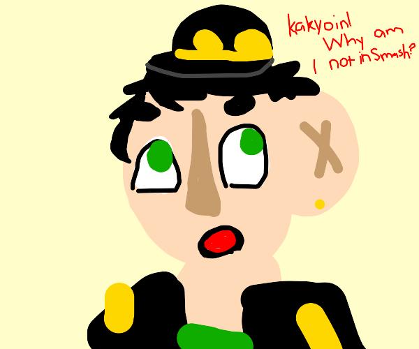 Jotaro shocked that jojo isn't in smash