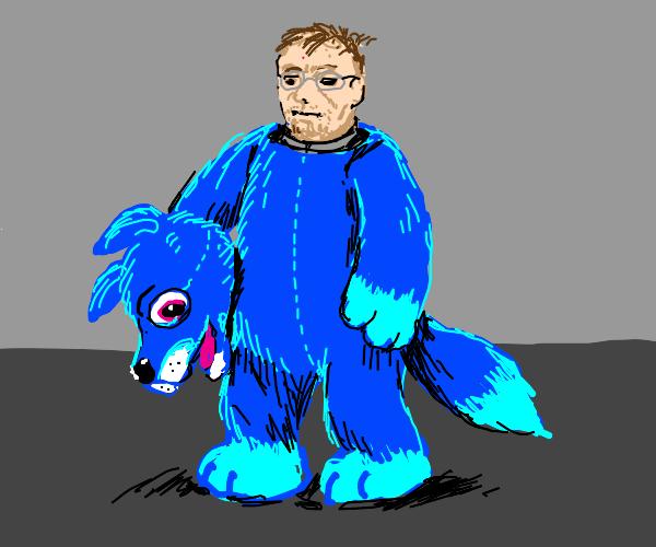 Furry in his fursuit