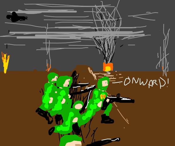 Onward, green soldiers