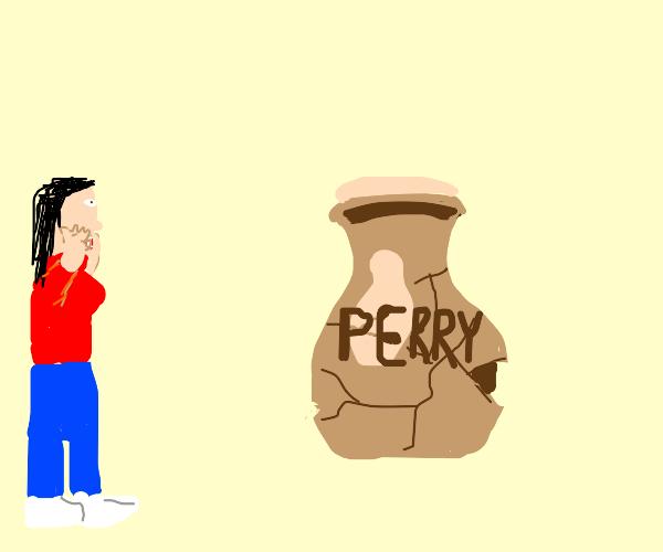 A broken vase? PERRY THE BROKEN VASE??