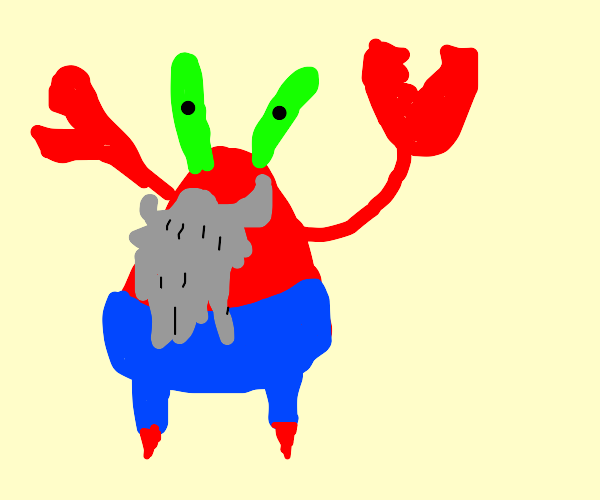 Mr Krabs doesnt shave