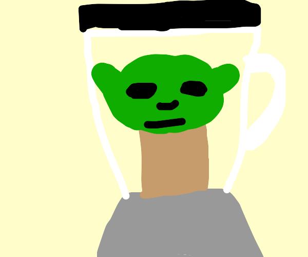 Baby yoda smoothie
