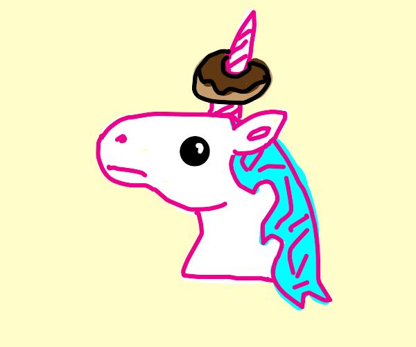 di unicorn has a weird donut on his horn