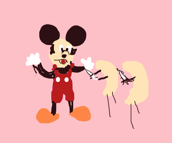 Mickey is attacked by the Cashews
