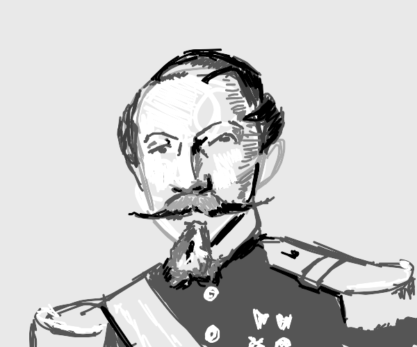 a portrait of an old historical guy