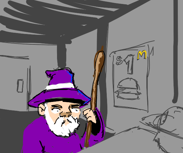Wizard goes to McDonalds,