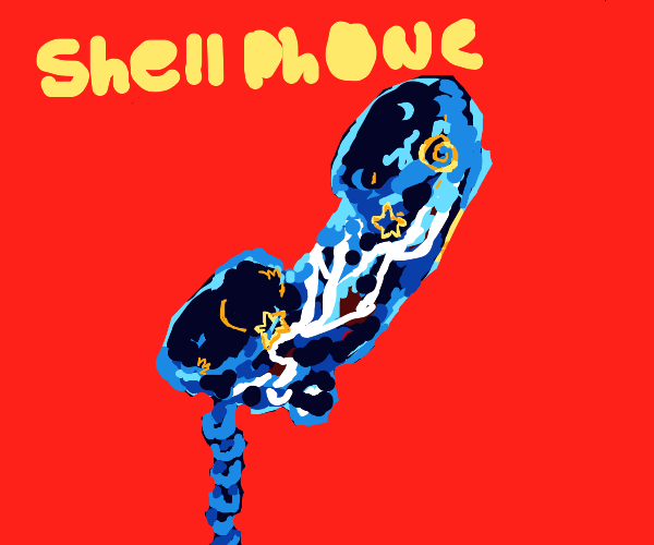 sea-themed telephone (shellphone?)