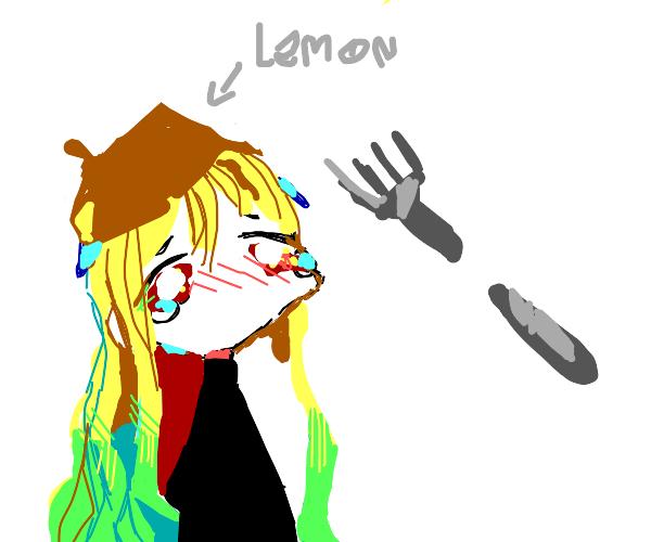 Lemon cries over broken fork