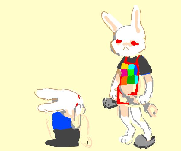 Abusive rabbit mother