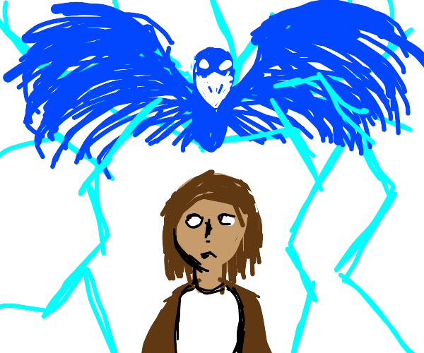 The big storm bird possesses the scorned boy