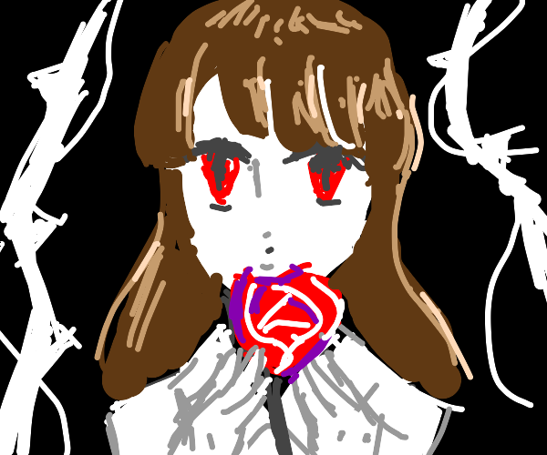 ib holding a red rose