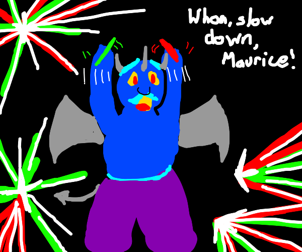 a demon preparing for a rave