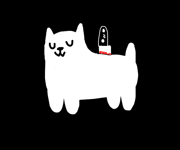 uwu dog with a knife in his back owo