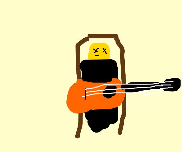 Dead guitarist