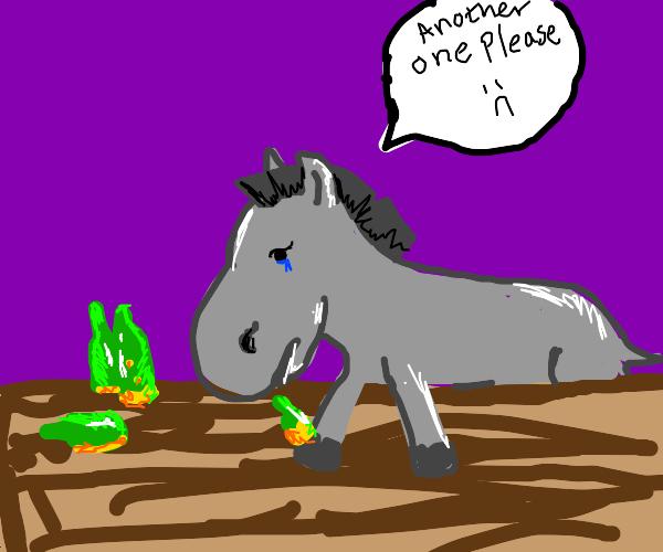 one pathetic donkey