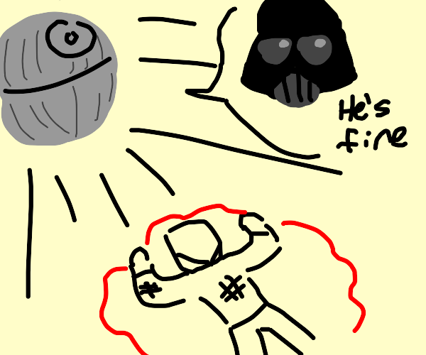dude gets hit by death star