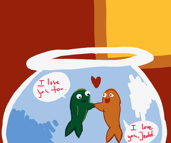 A fish named Jedd and his wife