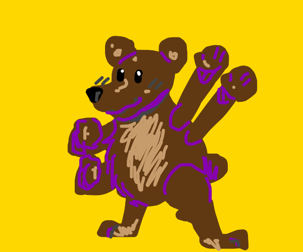 4 armed bear