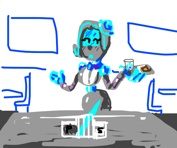 Sexy Robot Waitress
