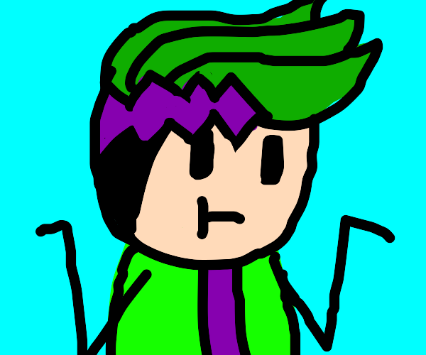 Is this anime green hair guy a Jojo refence?
