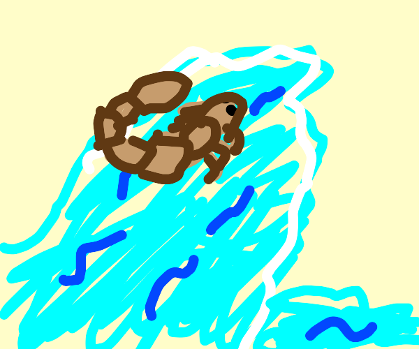 Mutated scorpion rides the waves