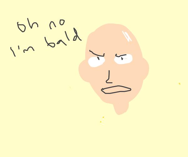 saitama realising he's bald