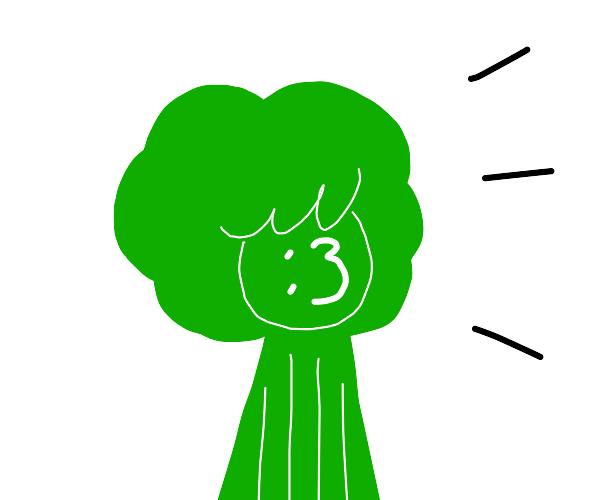Green man doing a :3