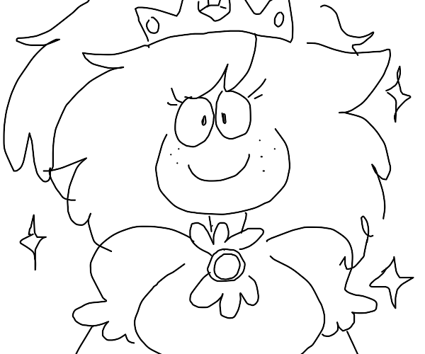 Cute sparkly princess :D (with freckles)